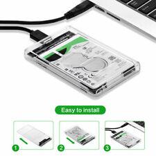 USB 3.0 SATA External 2.5Inch Hard Drives Case HDD SSD Enclosure Transparent Box