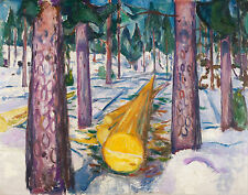 Munch Edvard The Yellow Log Canvas 16 x 20 #3015