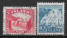 1931,1935 ICELAND Set of 2 USED STAMP (Michel # 151,181)