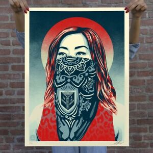 OBEY Print JUST FUTURE RISING Signed/Numbered Shepard Fairey LIMITED EDITION 450