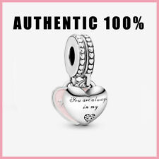 Authentic Pandora Mother & Daughter Hearts Dangle Charm Silver 925