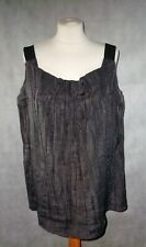 MARNI grey pleated airy light sun top size 44 uK 12 trapeze net a porter