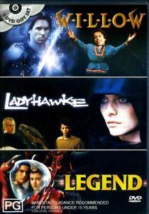 Willow / Ladyhawke / Legend - DVD - Region 4 - FAST POST