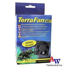 Lucky Reptile Terra Fan Lüfterset - Niedervolt-Lüftersystem 2 Lüfter + Trafo