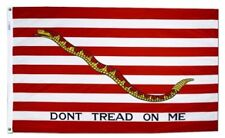 1st NAVY JACK Dont Tread On Me FLAG 3x5 ft Revolutionary War Print Polyester