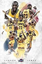 Lebron James - Cleveland Cavaliers - Montage Basketball Poster - NBA #2