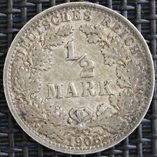 ALLEMAGNE 1/2 MARK 1906 A