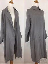 NWT Zara Basic Womens M Medium Gray Top Button Closure Long Sleeve Jacket Coat