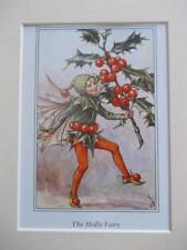 Holly Flower Fairy, Cicely Mary Barker in 10 in (ca. 25.40 cm) x 8 in (ca. 20.32 cm) Avorio Mount 8 x 6 stampa