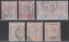 St Vincent 1899 Queen Victoria Set to 5d Used SG67-72