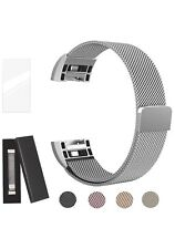 Metal Bands Compatible Fitbit Charge 2 Bands Milanese Stainless Steel Small