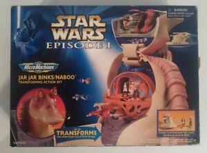 Micro Machines Star Wars Ep.1 Jar Jar Binks Naboo Transforming Playset 1999(99%)