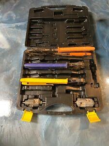 """Viega Pureflow Pex Press Hand Crimper Tool Set 1/2"""" 3/4"""" 1"""" w/ Prep Tools & Case"""