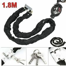 Heavy Duty Motorbike Motorcycle Chain Lock 1.2//1.8m /& Alarm Disc Lock Yellow