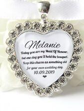 Maid Of Honour Bouquet Charm Diamanté Wedding Memory Charm Friend Keepsake