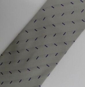 "Silver Purple UNGARO Silk Tie 4"" Wide 57"" Long"