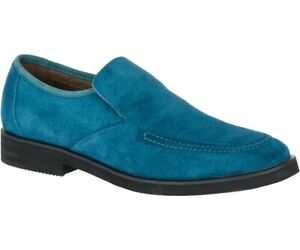 Hush Puppies Men's Bracco MT Slip-On Loafers Dark Teal Suede, Pick A Size