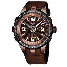 Perrelet Men's Turbine Pilot Brown Dial Leather Strap Automatic Watch A1094/2