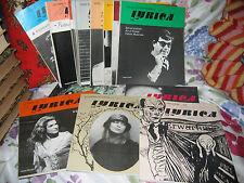 16 numéros Revue opéra LYRICA 1978 1980