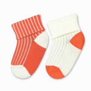 Toddler Combed Cotton Ribbed Turn Cuff 2-Pack Socks