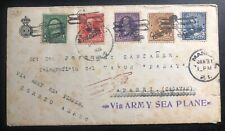 1927 Manila Philippines Early Airmail Army Sea Planes Flight Cover To Aparri