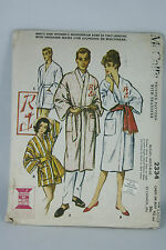 Vintage McCalls House Coat Pattern 2334 Size Large Chest or Bust 42-44