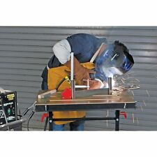 Steel Welding Table Portable 5 Adjustable Angles 350 lbs Retractable Edge Guides