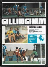 Football Programme>GILLINGHAM v PETERBOROUGH UNITED Mar 1977