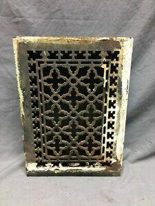 Antique Cast Iron Heat Grate Register 8x12 Decorative Gothic Old VTG 1275-20B