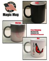 Coffee Time Mug, Coffee Cup mug Heat Color Changing Cup Gift, Free Shipping