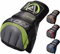 RDX MMA Handschuhe Grappling Leder Kampfsport Boxen Gloves Fight Thai DE