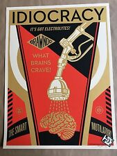 IDIOCRACY movie art poster silkscreen art print MONDO Shepard Fairey