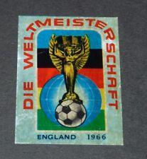 BADGE WAPPEN ECUSSON WELTMEISTERSCHAFT SICKER PANINI FOOTBALL 1966 ENGLAND 66
