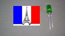LED Diode 5mm couleur vert green (~3V ~20mA) x10