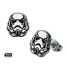 Stud Pair Of Earrings (Brand New) Official Star Wars Stormtrooper White & Black