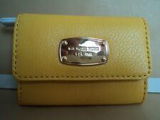 MichaelKors Jet Set Genuine Leather Citrus Coin Card Case Purse Wallet AUTHENTIC
