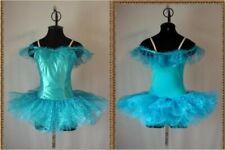 Victorian Turquoise Lace Ballet Tutu Dance Costume Adult Size 12