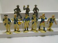 VINTAGE MADE IN GERMANY HARD PLASTIC REVOLUTIONARY WAR & CONFEDERATE SOLDIERS