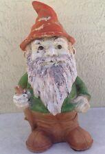 "Vintage Garden Gnome 1990s Universal Statuary 1993 resin standing 042 decor 12"""