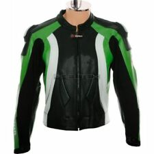 Blousons d'été verts pour motocyclette