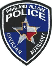 TEXAS - Highland Village Police patch -- Civilian Auxiliary