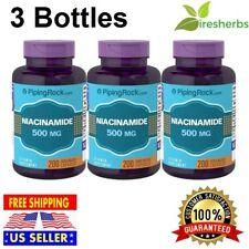 NIACINAMIDE 500mg Vitamin B-3 Energy Booster Skin Health SUPPLEMENT 600 Capsules