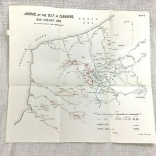 More details for ww1 military map british expeditionary force arrival in flanders belgium 1914