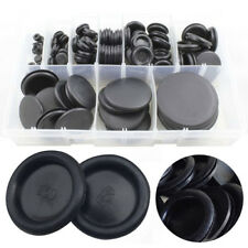 130pcs Black Cable Blanking Rubber Closed Grommets Assorted Box 6mm-50mm 9 Sizes