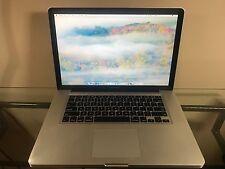 Apple MacBook Pro 15 CORE i5 2.4 Pre-Retina Mac OS-2015 8GB RAM 500GB DRIVE