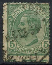 Italy 1906-8 SG#75, 5c Green Perf Error Margin Inscription Used  #D8844