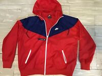 Men's Nike Sportswear Windrunner Jacket Midnight Navy/Red AR2191-657 Size XL