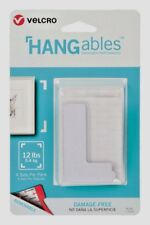 4pk Velcro HANGables Removable Wall Fasteners Hanger Picture Decor White 95182