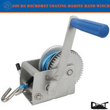 500 KG MARINE HAND WINCH ANTI-CORROSION COATED 3:1 5mm x 8M WINCH ROPE 4WD