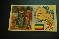 Vintage Cigarettes Card. ETHIOPIA. REGIONS OF THE WORLD COLLECTION